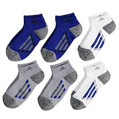 Boys 4-20 adidas 6-Pack Low-Cut Cushioned Socks