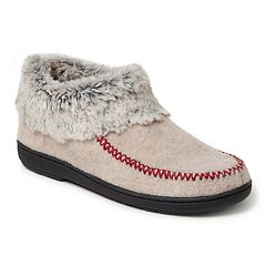 Women's Dearfoams Felt X-Stitch Trim Bootie Slippers