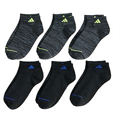 Boys 4-20 adidas 6-Pack Superlite Low-Cut Socks