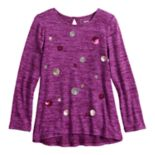 Girls 4-12 SONOMA Goods for Life? Sequined High-Low Hem Tunic