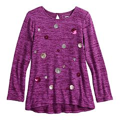 Girls 4-12 SONOMA Goods for Life® Sequined High-Low Hem Tunic