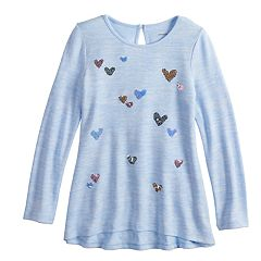 Girls 4-12 SONOMA Goods for Life™ Sequined High-Low Hem Tunic