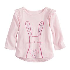 Baby Girl Jumping Beans® High-Low Ruffle Sleeve Tee