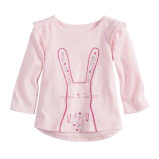 Baby Girl Jumping Beans® High-Low Ruffle Sleeve Tee