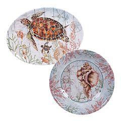 Certified International Sanibel 2-piece Melamine Platter Set