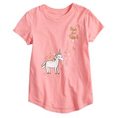 Girls 4-10 Jumping Beans® 'One Of A Kind' Unicorn Glitter Graphic Tee