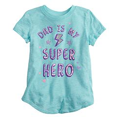 Girls 4-12 Jumping Beans® 'Dad Is My Super Hero' Graphic Tee