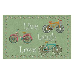 Brumlow Mills Spring Bicycles Printed Rug