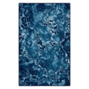 Brumlow Mills Blue Mercury Contemporary Printed Rug