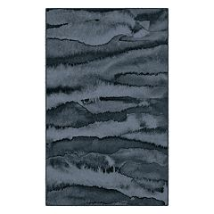 Brumlow Mills Morning Fog Modern Abstract Printed Rug