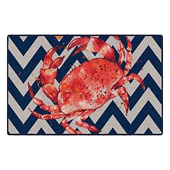 Brumlow Mills Don't Be Crabby Printed Rug