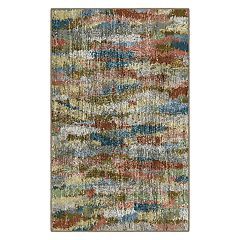 Brumlow Mills Rustic Earthtones Vintage Abstract Printed Rug
