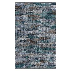 Brumlow Mills Rustic Ocean Waves Vintage Abstract Printed Rug