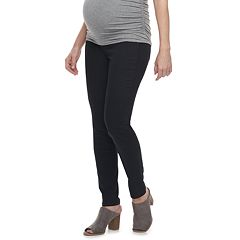Maternity a:glow Full Belly Panel Sateen Skinny Pants