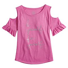 Girls 7-16  SO® Cold-Shoulder Top
