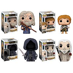 Funko POP! Movies Lord of the Rings Hobbit Collectors Set: Gandalf, Samwise Gamgee, Nazgul & Saruman