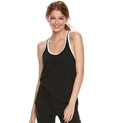 Juniors' SO® Contrast Trim Racerback Tank