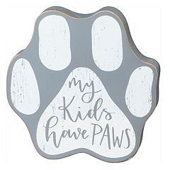 'My Kids Have Paws' Paw Print Table Decor