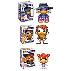 Funko POP! Disney's Darkwing Duck Collectors Set: Darkwing Duck, Launchpad McQuack & Gosalyn Mallard