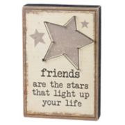 """Friends Are The Stars"" Box Sign Art"