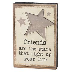 'Friends Are The Stars' Box Sign Art