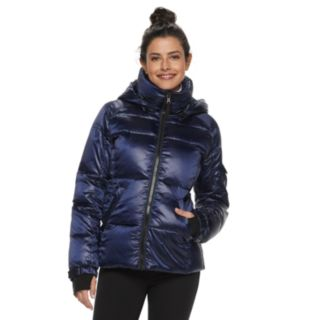 Women's S13 Hooded Satin Down Puffer Jacket