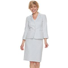 Women's Le Suit Wavy Stripe Jacket & Skirt Suit