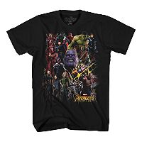Boys 8-20 Marvel Comics Avengers Infinity Wars Tee