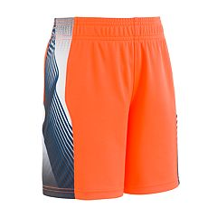 Toddler Boy Under Armour Space The Floor Orange Striped Athletic Shorts