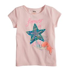 Disney's The Little Mermaid Ariel Toddler Girl 'Forever A Star' Fitted Tee by Jumping Beans®