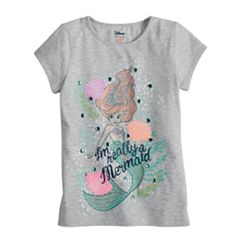 Disney's The Little Mermaid Ariel Toddler Girl 'I'm Really A Mermaid' Fitted Tee by Jumping Beans®