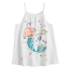 Disney's The Little Mermaid Ariel Toddler Girl Braided Trim Tank by Jumping Beans®