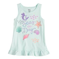 Disney's The Little Mermaid Toddler Girl Ariel 'Seas The Day' Ruffle Tank by Jumping Beans