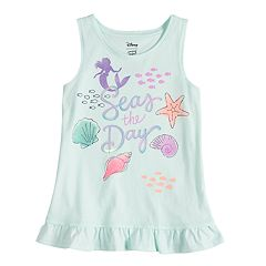 Disney's The Little Mermaid Girls 4-7 Ariel 'Seas The Day' Ruffle Tank by Jumping Beans