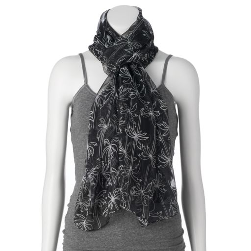 Women's SONOMA Goods for Life™ Print Oversized Wrap Scarf with Neoprene Pouch