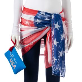 Women's SONOMA Goods for Life? Print Oversized Wrap Scarf with Neoprene Pouch