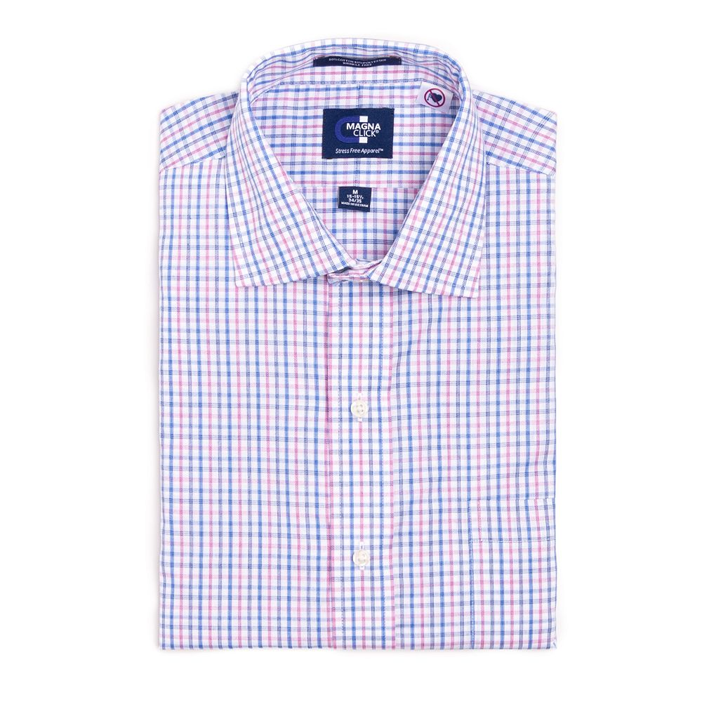 Men's MagnaClick Regular-Fit Spread-Collar Adaptive Dress Shirt