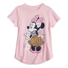Disney's Minnie Mouse  Girls 4-10 Glitter Tropical Flutter Tee by Jumping Beans®