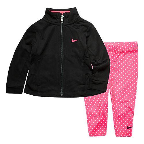 7e1156ababa0 Toddler Girl Nike Fluted Full Zip Jacket and Leggings 2-Piece Set