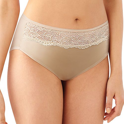 Women's Bali One Smooth U Comfort Indulgence Satin High-Cut Panty 2848