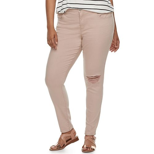 Juniors' Plus Size SO® Low-Rise Twill Jeggings