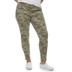 Juniors' Plus Size SO® Low-Rise Twill Leggings