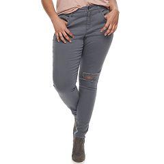 Juniors' Plus Size SO® Low-Rise Twill Leggings