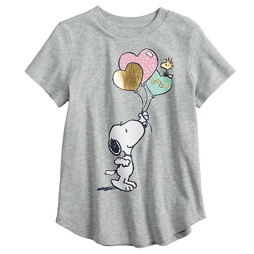 Girls' 4-10 Jumping Beans® Snoopy & Woodstock Foiled Graphic Tee