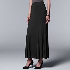 Women's Simply Vera Vera Wang Seamed Black Maxi Skirt