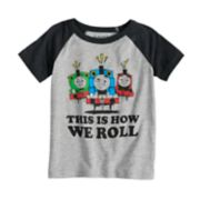 "Toddler Boy Jumping Beans® Thomas & Friends ""This Is How We Roll"" Percy, Thomas & James Raglan Tee"
