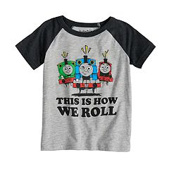Toddler Boy Jumping Beans® Thomas & Friends 'This Is How We Roll' Percy, Thomas & James Raglan Tee