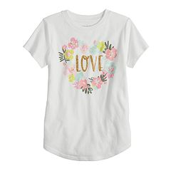 Girls 4-10 Jumping Beans® 'Love' Heart Graphic Tee