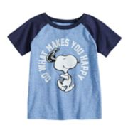 "Toddler Boy Jumping Beans® Peanuts Snoopy ""Do What Makes You Happy"" Raglan Graphic Tee"