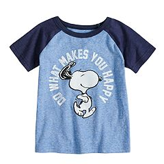 Toddler Boy Jumping Beans® Peanuts Snoopy 'Do What Makes You Happy' Raglan Graphic Tee
